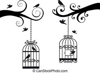 Vogelkacke und Vögel, Vektor