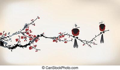 Vogelmalerei.