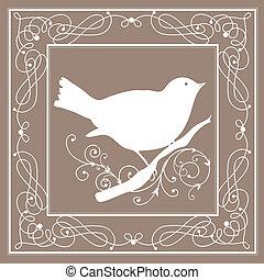 Vogelrahmen Vintage