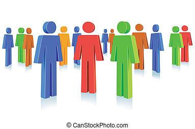 Volksgruppe Symbol.
