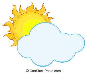 Volle Sonne hinter einer Wolke