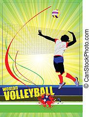 Volleyball-Frauen-Silhouette