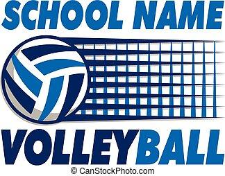 Volleyball mit Netz.