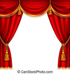 vorhang, rotes