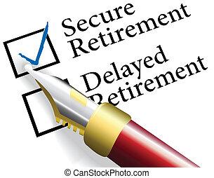 Wählen Sie eine sichere Renteninvestition.