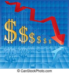 Währungsinflation.