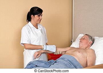 wäsche, pflegen patienten