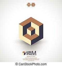 Würfel-Logo, Logik-Ikone