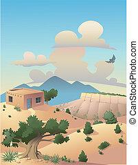 Wüstenlandschaft illustriert