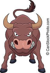 Wütend Bull Cartoon