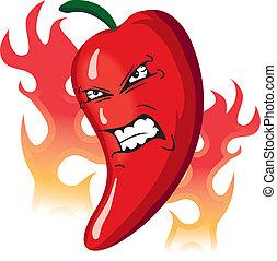 Wütend heiße Paprika