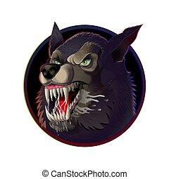Wütend wilder Wolf