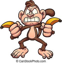 Wütende Affenbananen