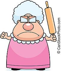 Wütende Oma