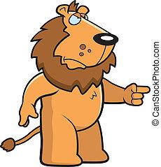 Wütender Löwe