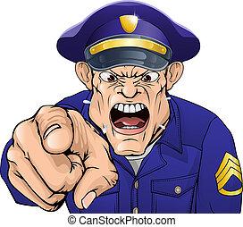 Wütender Polizist