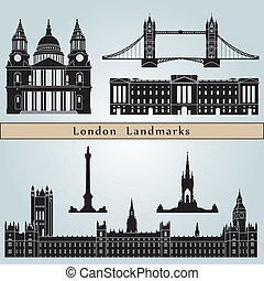 wahrzeichen, london, denkmäler