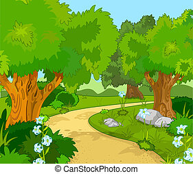 wald, landschaftsbild