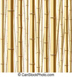 wald, seamless, bambus