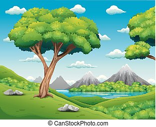 Waldlandschaft mit schönem Natur Hintergrund.