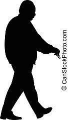 Walking Man Silhouette.