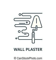 Wall-Plaster-Vektorlinie Icon, lineares Konzept, Umrisszeichen, Symbol.