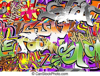 wand, graffiti, hintergrund