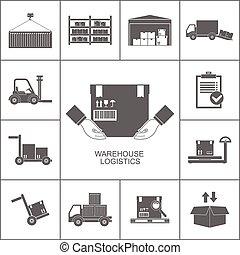 Warehouse Icons schwarz.