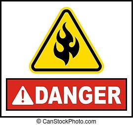 warnung, feuergefährliches vorzeichen