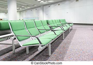 Wartehalle am Flughafen