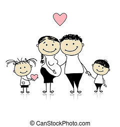 warten, eltern, schwangerschaft, kinder, newbaby, glücklich