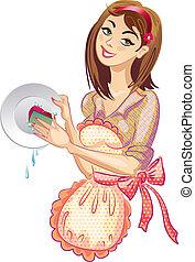 Wasch das Geschirr. Waschmittel