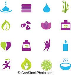 Wasser, Brunnen und Zen-Ikonen