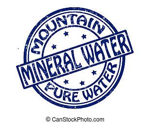 wasser, mineral