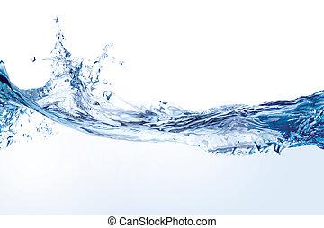 Wasser spritzt auf weiß