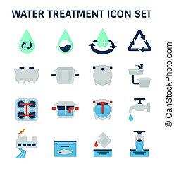 Wasserbehandlungs-Ikone.