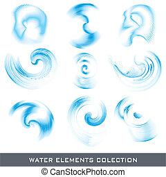 Wasserdesign-Elemente