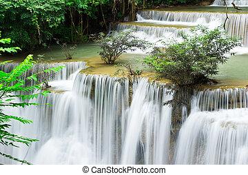 Wasserfall, Hua mae Kamin Ebene 4 kanchanaburi thailand