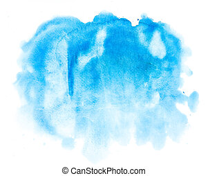 Wasserfarbenblauer abstrakter Hintergrund
