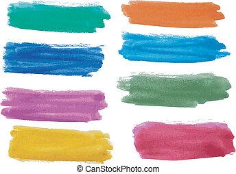 Wasserfarbene Banner.