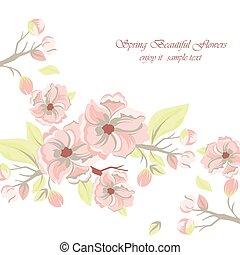 Wasserfarbene Frühlingsblumen