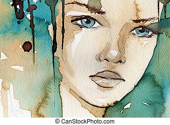 Wasserfarbene Illustration.