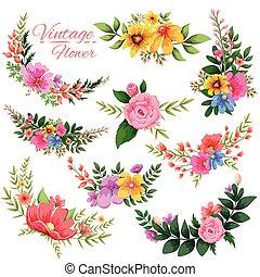 Wasserfarbener Blumenrahmen.