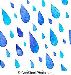 Wasserfarbener Regen fällt nahtlos.
