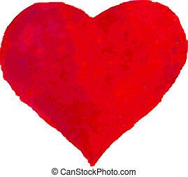 Wasserfarbenes Herz.