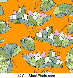 Wasserlose, nahrlose, tropische Blütenmuster