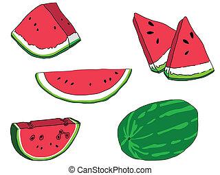 Wassermelonen bereit.