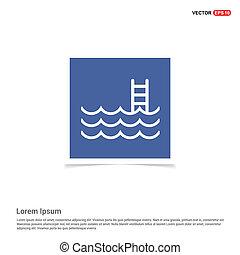 Wasserpool Icon - blaues Fotorahmen.
