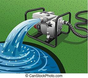 Wasserpumpenstromgenerator.