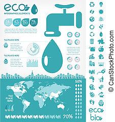 Wasserschutz infographische Vorlage